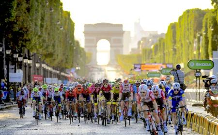 Tour de France siste etappe på champs elysees
