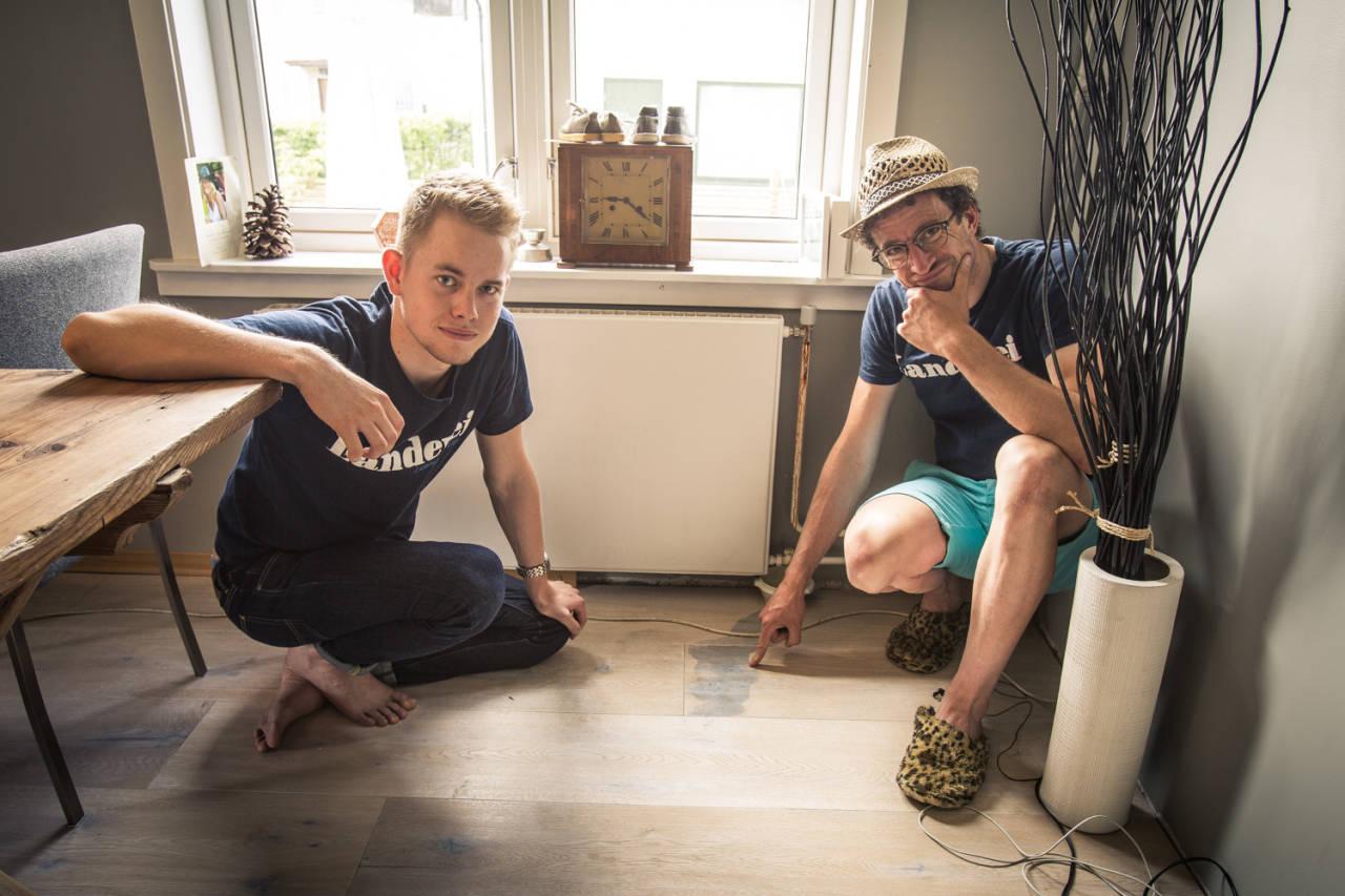 FILLERN: Lei skade på gulvet. Men hva har dette med sykling å gjøre? Foto: Christian Nerdrum.