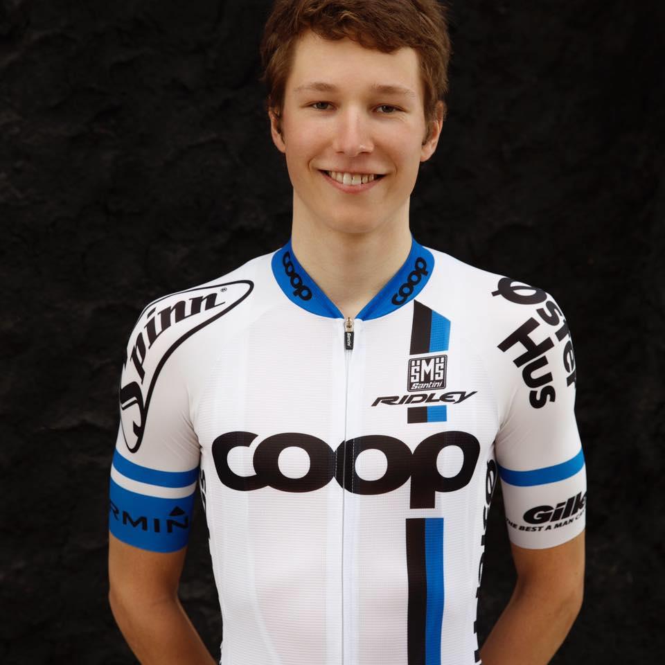 MANN FOR FRAMTIDEN: Håkon Lunder Aalrust imponerte da han debuterte for Team Coop i Tour of Norway. Foto: Rasmus Kongsøre