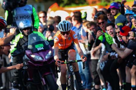 SUVEREN: Annemiek van Vleuten vant kvinnenes VM-fellesstart med hele to minutter og 15 sekunders margin. Foto: Cor Vos