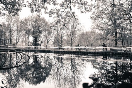 PLASKEDAM: Runden i Gavere går rundt en dam som høyerestående militære tuslet rundt når de ønsket å slappe av.