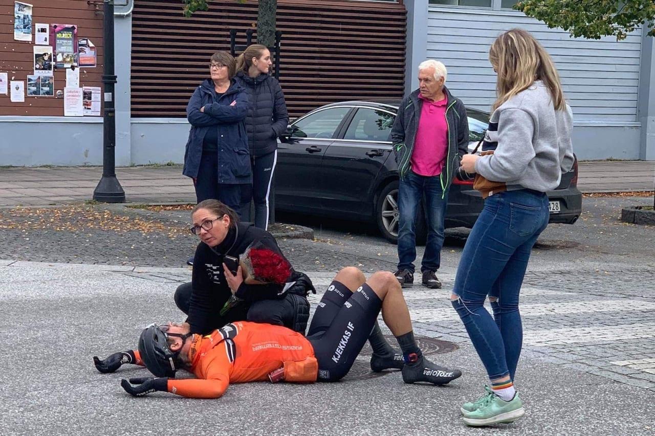 SLITSOMT: Bjørn Haakon Braadland vant Oslo-Lærdal etter 17 mil alene i brudd.