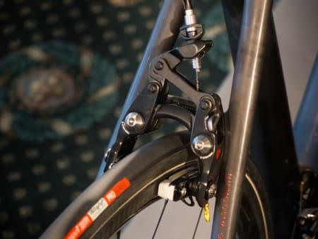 NYTT: Shimanos bremser er ikke lette nok for Trek, så de laget sin egen Bontragerversjon. Dette er andre utgave.
