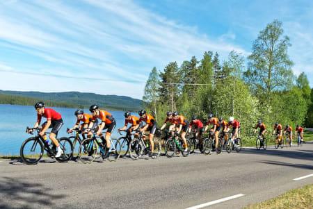 RASKEST: Kjekkas vant det 148 kilometer lange Nordmarka Rundt med god margin, til tross for at laget ikke har noe felles rittprosjekt i år. Foto: Ola Morken