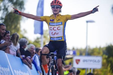 LEDER: Marianne Vos (CCC-Liv) leder Ladies Tour of Norway med 19 sekunders margin i forkant av siste etappe, som går i morgen. Foto: Cor Vos