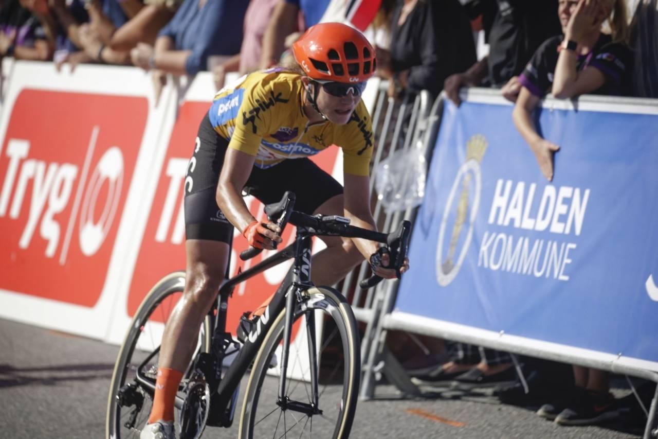 HATTRICK: Dagens sammenlagtseier var den tredje på rad for Marianne Vos i Ladies Tour of Norway. Foto: Cor Vos