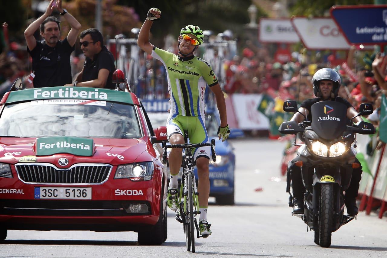 ENDELIG!: Alessandro De Marchi ble kåret til Tourens mest offensive rytter, men fikk ikke en etappeseier i Frankrike. I dag fikk han imidlertid betalt for sin angrepsvillige stil. Foto: Cor Vos.