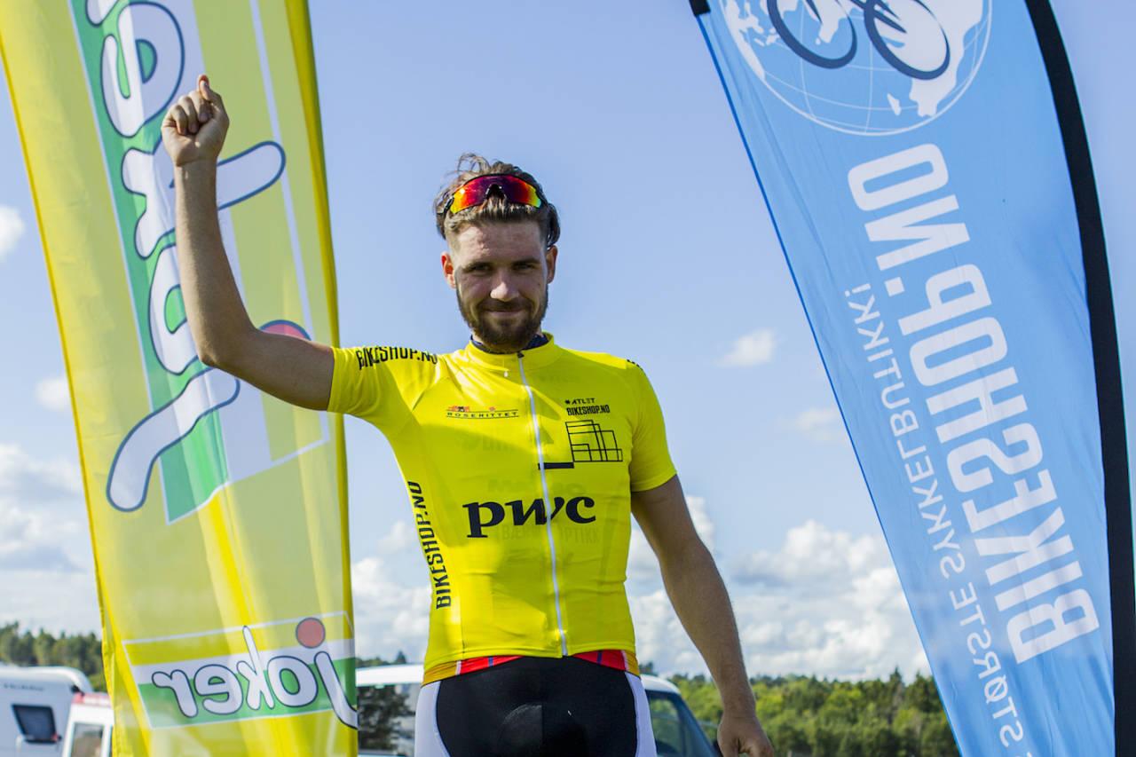 Kristoffer Ylven Westgaard ble nummer to på fellesstarten men leder sammenlagt. Foto: Pål Westgaard