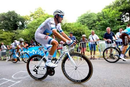 BLIR IKKE SOLGT: EM-sykkelen til Alexander Kristoff skal ikke selges allikevel. Foto: Cor Vos.