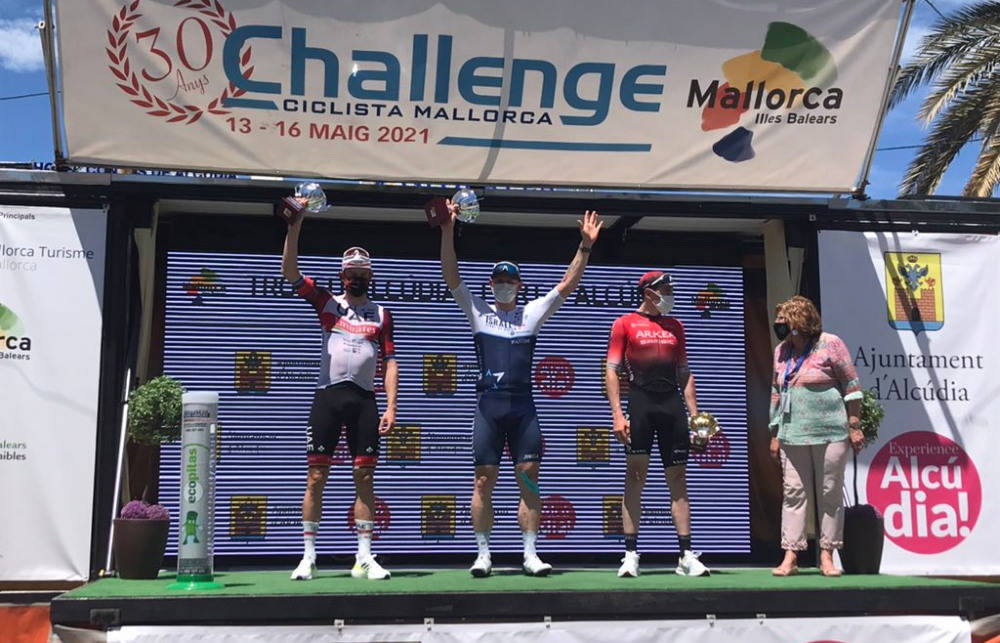 PÅ PODIET: Alexander Kristoff spurtet inn til annenplass i Trofeo Alcudia. Foto: Challenge Mallorca