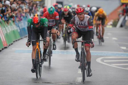 ENDELIG: Alexander Kristoff kunne pustet lettet ut etter å ha vunnet den andre etappen av Deutschland Tour. Foto: Cor Vos