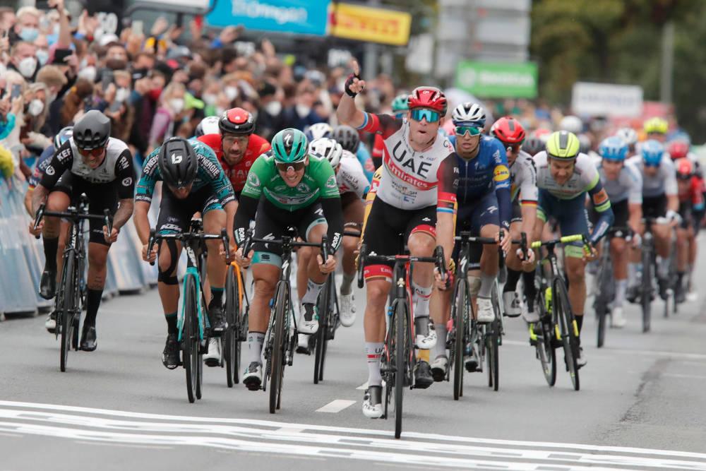 NY TRIUMF: Alexander Kristoff tok sin andre etappeseier i Deutschland Tour. Foto: Cor Vos