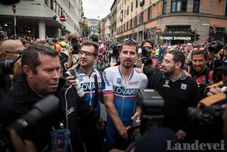 KONGEN: Ikke like overlegen som tidligere, men Peter Sagan ble nok en gang verdensmester. Foto: Henrik Alpers
