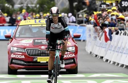 FERDIG: Amund Grøndahl Jansen står av Tour de France før den 16. etappen. Foto: Cor Vos.