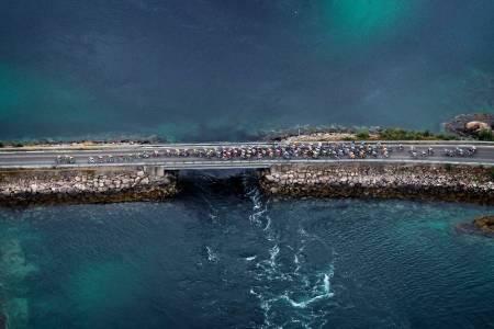 NATURSKJØNT: Arctic Race of Norway er blitt velkjent for sine enestående omgivelser. Foto: Cor Vos