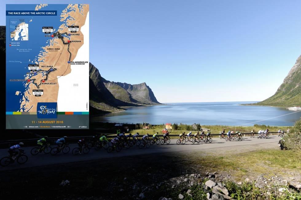SYKKELFEST I NORD: Slike bilder får vi garantert se flere av når verdens beste syklister besøker Nord-Norge i august. Foto: ASO.