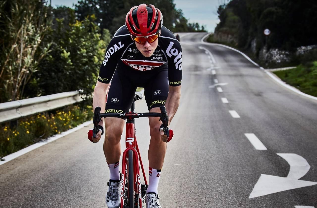 Lotto-soudal syklist Carl Fredrik Hagen sin koronatrening