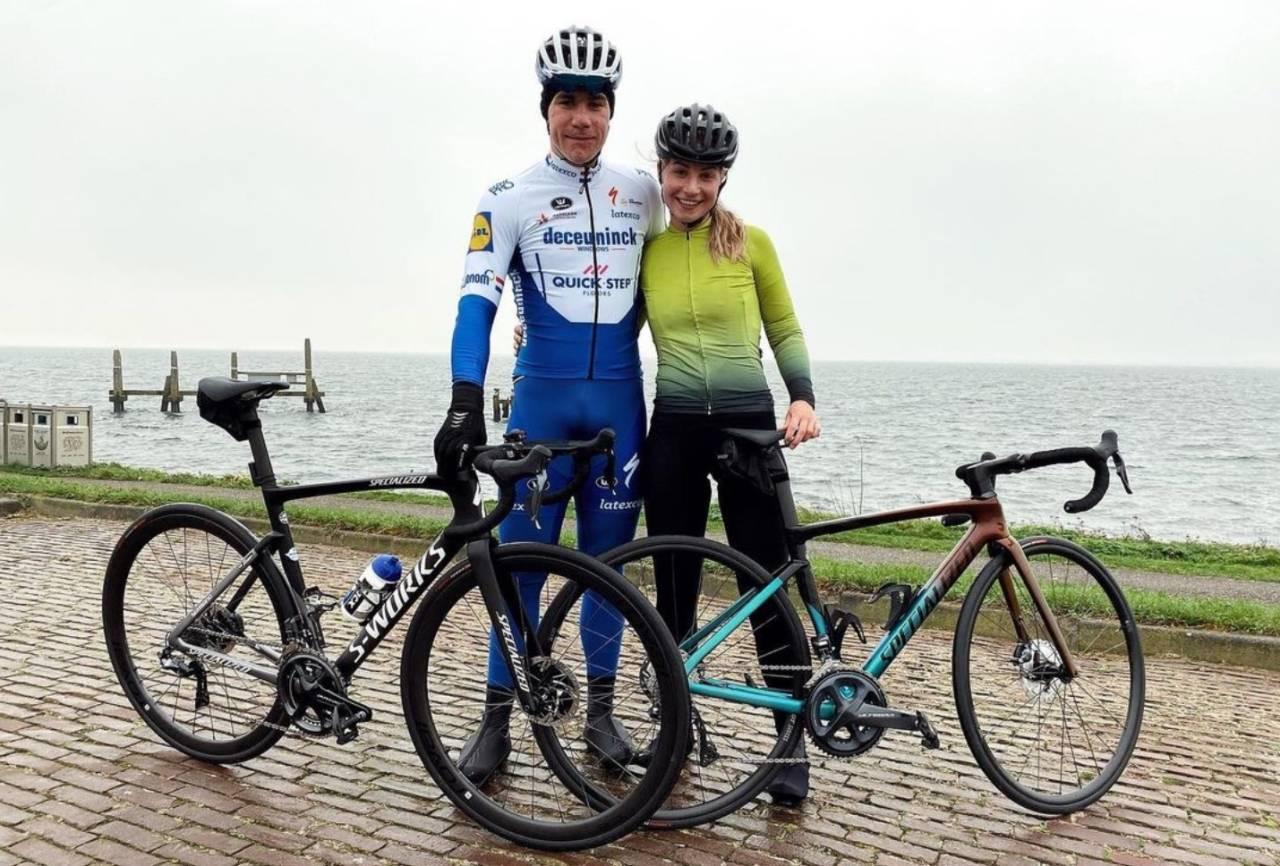 LETTELSE: Fabio Jakobsen tok seg en treningstur i går, den første sykkelturen etter den grusomme velten i våres. Skjermdump, Instagram.