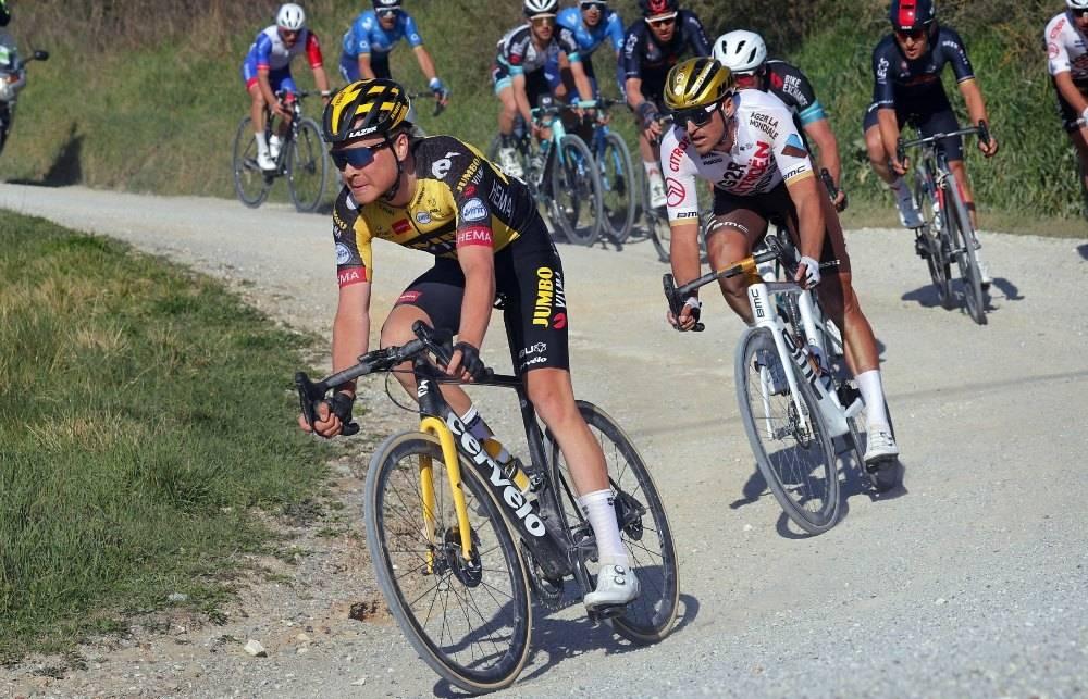 I GANG: Etter å ha sesongdebutert i Strade Bianche, fortsetter Tobias Foss sesongen med Tirreno-Adriatico. Foto: Cor Vos