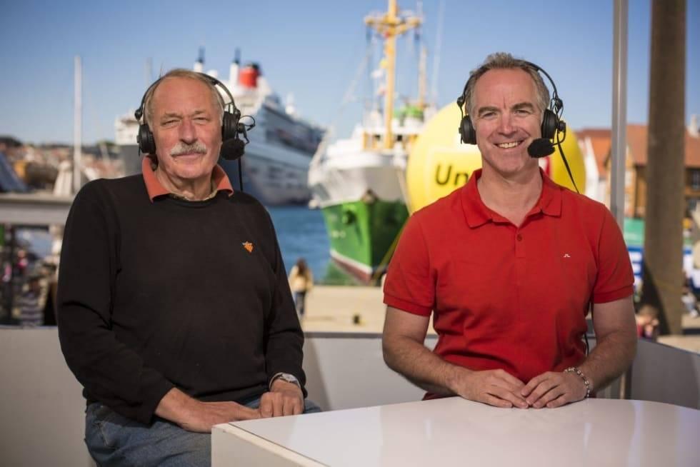 KOMMENTATORDUO: Johan Kaggestad og Christian Paasche har ledet TV 2 sine sykkelsendinger i en årrekke.