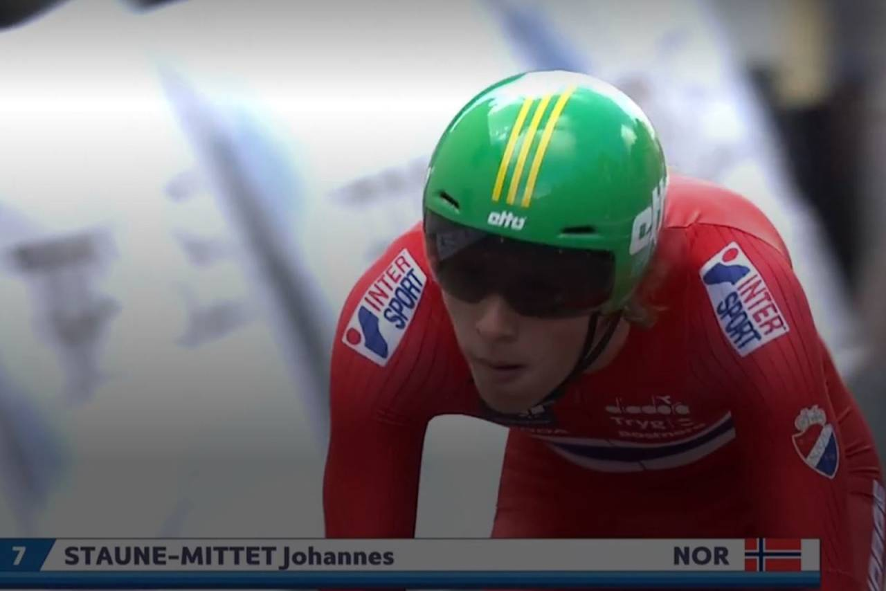 EM-DEBUTANT: Johannes Staune-Mittet fra Lillehammer CK ble beste norske blant juniorgutta på EM-tempoen i Nederland. Foto: NCF