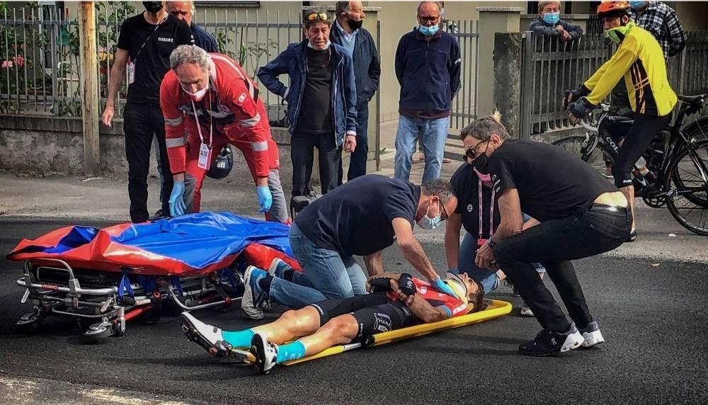 UTE: Mikel Landa dundret i bakken og er ute av Giro d'Italia. Foto: Cor Vos