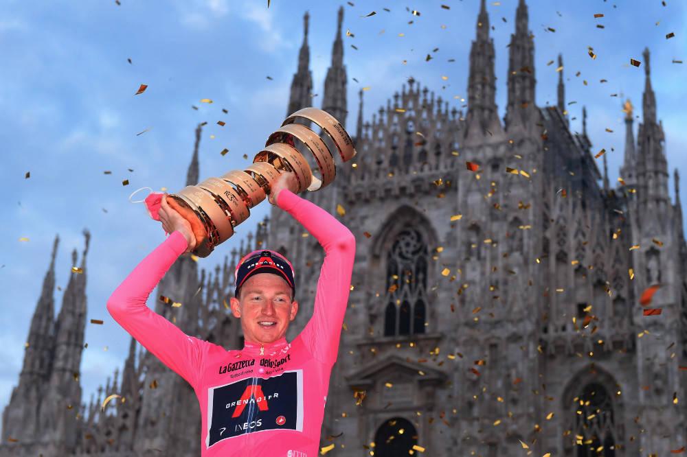 VANT: Tao Geoghegan Hart tok en overraskende seier i fjorårets Giro d'Italia. I år satser briten imidlertid på Tour de France. Foto: Cor Vos