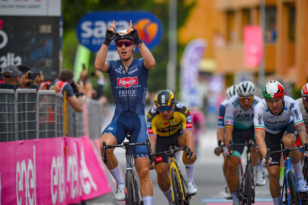 VANT: Tim Merlier triumferte på Giroens andre dag. Foto: Cor Vos