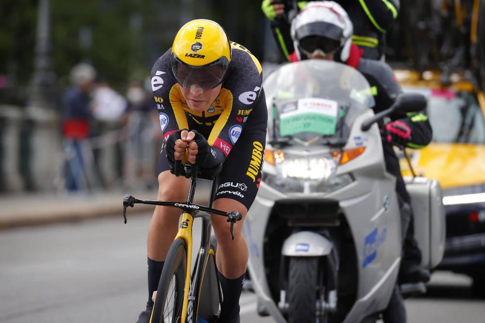 TREDJEPLASS: Tobias Foss ble kun slått av to ryttere på åpningsetappen i Giro d'Italia. Foto: Cor Vos