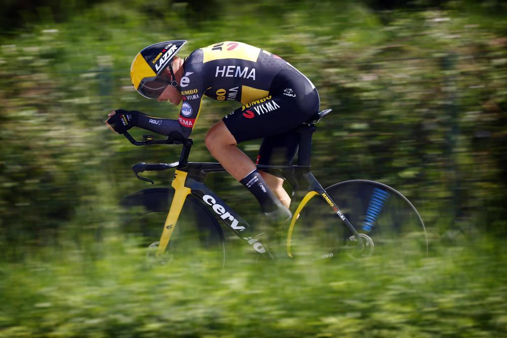 SKREV NORSK SYKKELHISTORIE: Tobias Foss endte som nummer ni sammenlagt i Giro d'Italia. Foto: Cor Vos