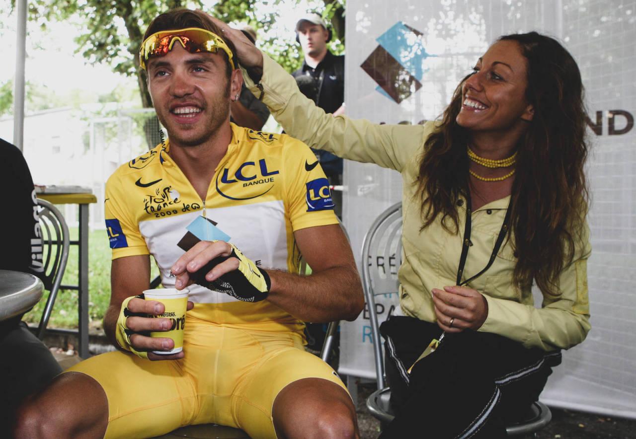 BEDRE TIDER: I 2009 hadde Rinaldo Nocentini gul trøye i ni dager. Karrieren ble avsluttet med en dopingutestengelse på fire år. Foto: Cor Vos.