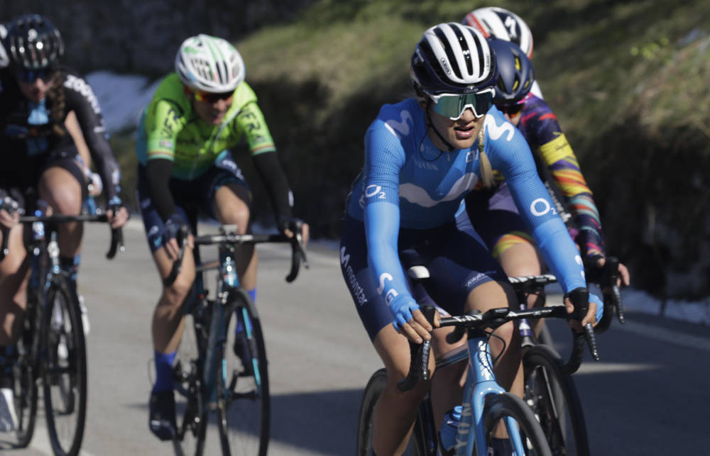 KLAR TIL DYST: Katrine Aalerud utgjør en sterk duo sammen med Annemiek van Vleuten i Flèche Wallonne. Foto: Cor Vos
