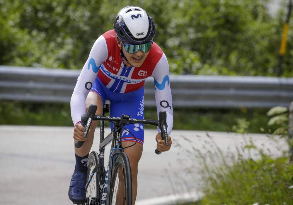 TUNG DAG: Katrine Aalerud, her i Giro Rosa, slet på OL-tempoen i Tokyo. Foto: Cor Vos
