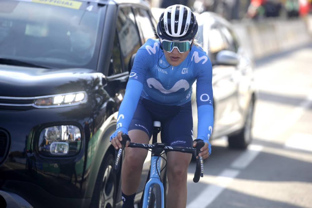 TUNG DAG: Katrine Aalerud tapte flere minutter i en tøff bakkeavslutning i Giro Rosa. Foto: Cor Vos