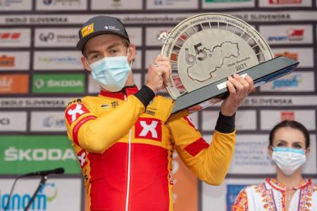 VANT: Kristoffer Halvorsen tok årets første seier i det slovakiske etapperittet Okolo Slovenska. Foto: Mario Stiehl