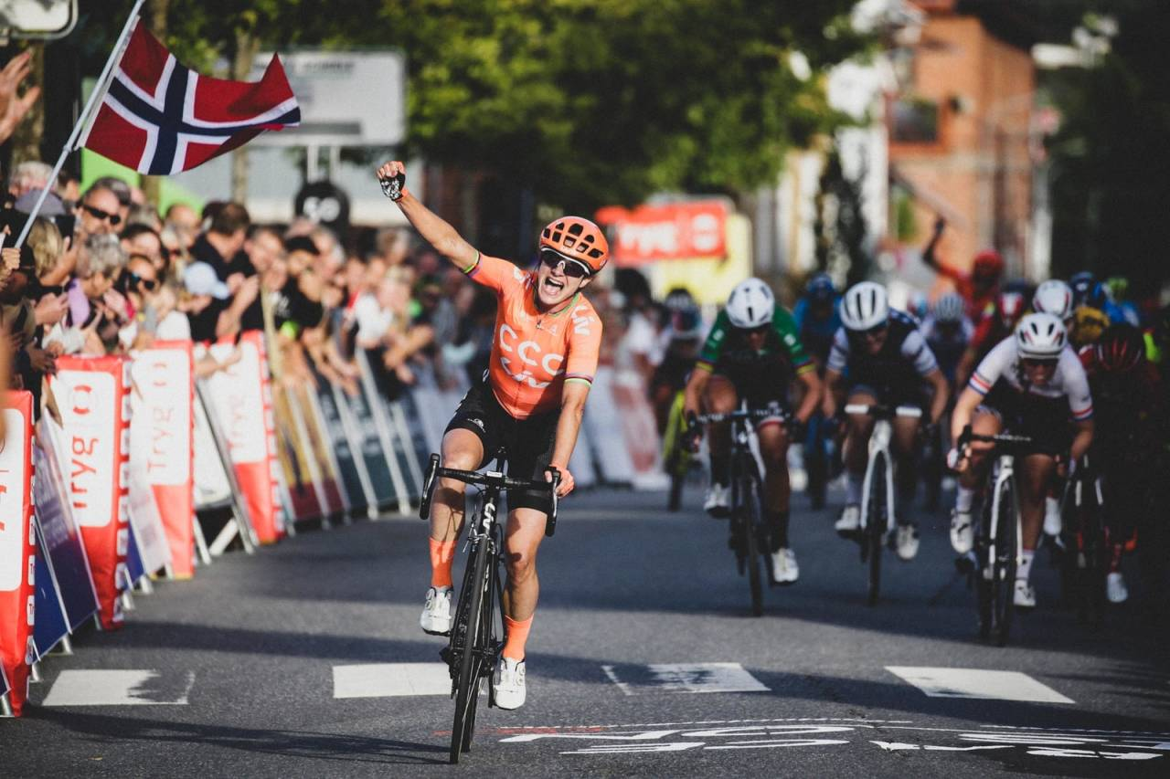 Marianne vos vinner en etappe i ladies tour of norway