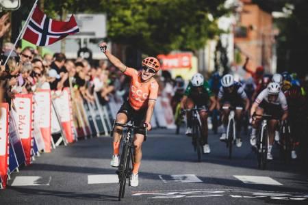 Marianne vos vinner en etappe i ladies tour of norway