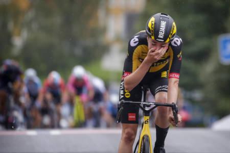 TÅRENE KOM: Riejanne Markus tok sin første WorldTour-seier på den andre etappen av Ladies Tour of Norway. Foto: Cor Vos