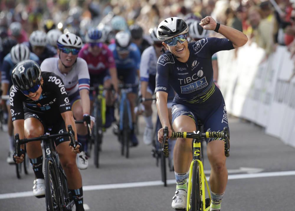 FOR SENT: Susanne Andersen var nær, men lykkes ikke med å ta igjen Kristen Faulkner i Ladies Tour of Norway. Foto: Cor Vos