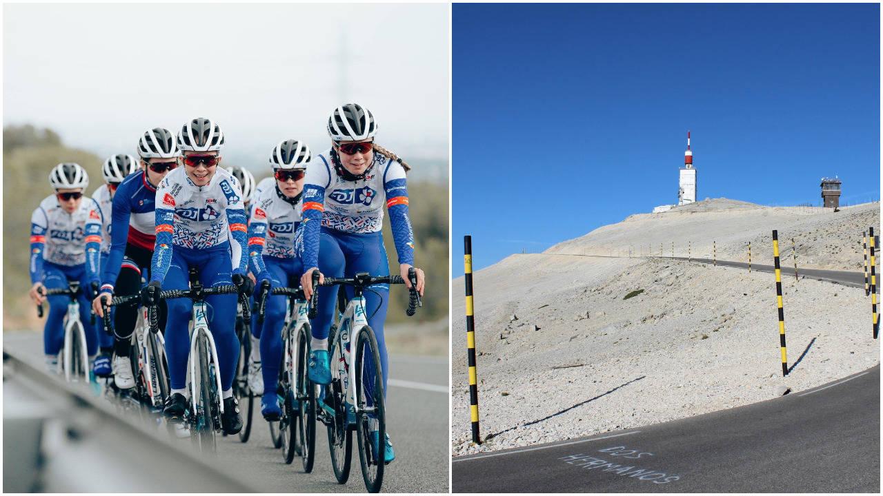 TIL TOPPS: Mont Ventoux har så langt vært forbeholdt herrene. Fra 2022 blir det også proffritt for damene opp det legendariske fjellet. Foto: Cor Vos.