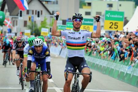 TOURMINATOR: Peter Sagan er tilbake på toppen av podiet i Tour de France. Arkivfoto: Cor Vos¨.