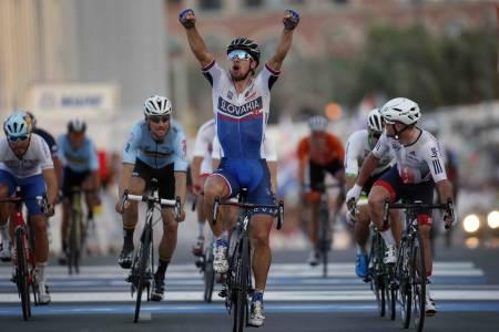 SAGAN IGJEN: Peter Sagan tok sin andre VM-tittel på rad i Qatar. Foto: Cor Vos.