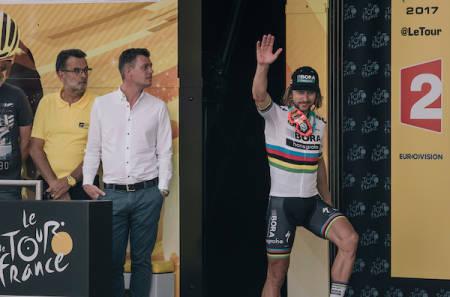 DISKET: Peter Sagan er ute av Tour de France. Foto: Kristof Ramon