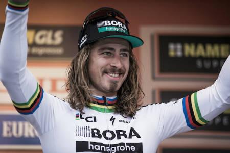 SUVEREN FAVORITT: Peter Sagan var den store favoritten før dagens etappe og levde opp til favorittstempelet. Foto: Kristof Ramon