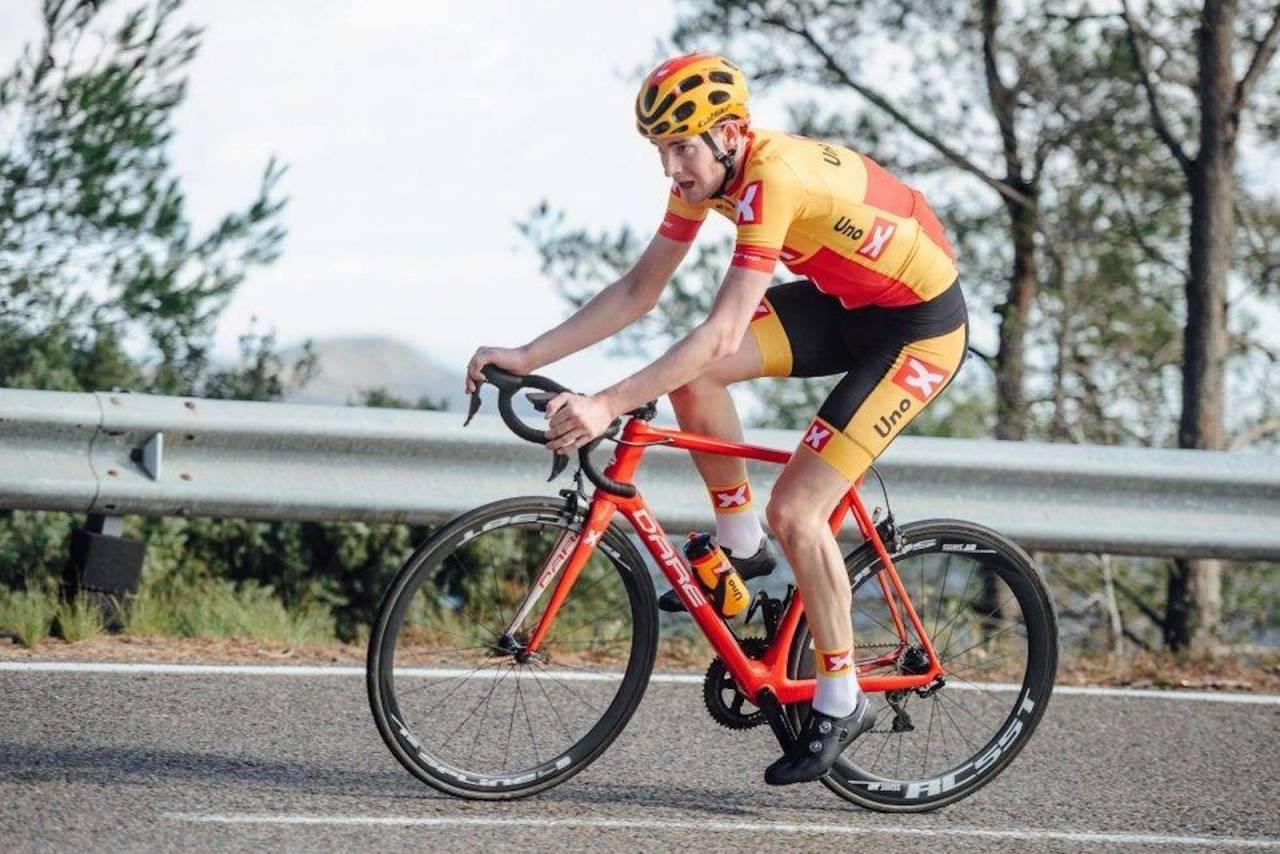Markus Hoelgaard fra Sandnes SK/ Uno-X Pro Cycling vant Norgescuptempoen i Sandnes