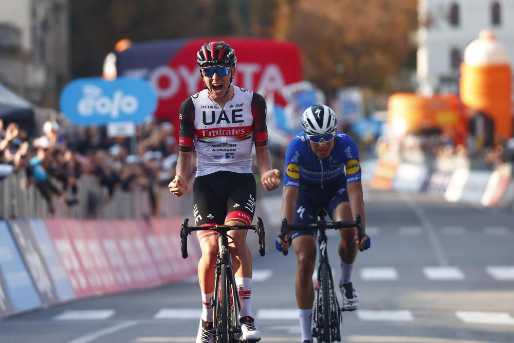 DRØMMESESONG: Tadej Pogacar avsluttet sesongen med ytterligere en stor triumf. Foto: Cor Vos