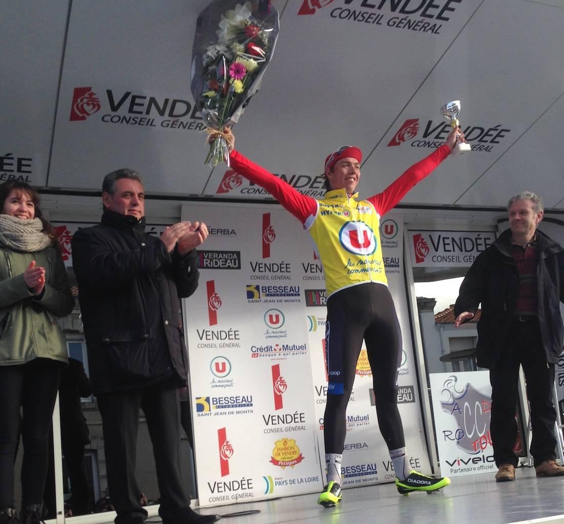 ENDELIG: 21 år gamle Oscar Landa vant gårsdagens etappe i Les Plages Vendéennes. Foto: Coop-Østerhus.