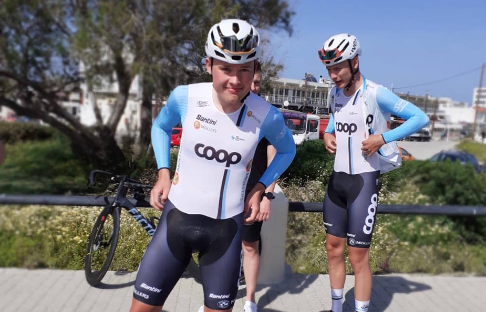 PÅ PODIET: Dennis Gråsvold imponerte på åpningsetappen av International Tour of Rhodes. Foto: Team Coop