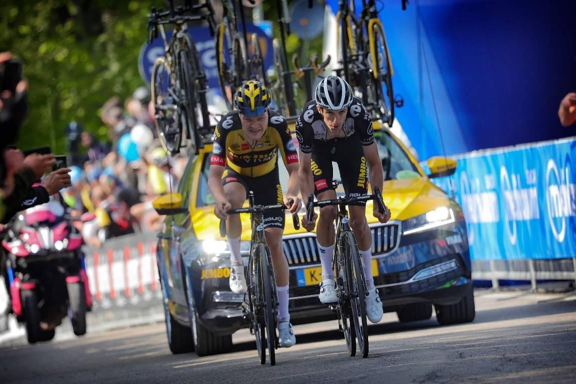 FORTSETTER Å IMPONERE: En ny god etappe av Tobias Foss på den 17. etappen av Giro d'Italia. Foto: Cor Vos