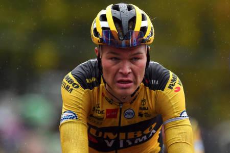 TIL GIROEN: Tobias Foss sykler Giro d'Italia. FOTO: Cor Vos